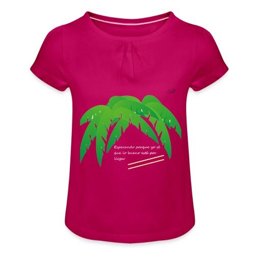 Palmera x OMW - Camiseta para niña con drapeado