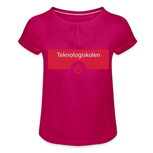 TeknologiskolenLogo - Pige T-shirt med flæser