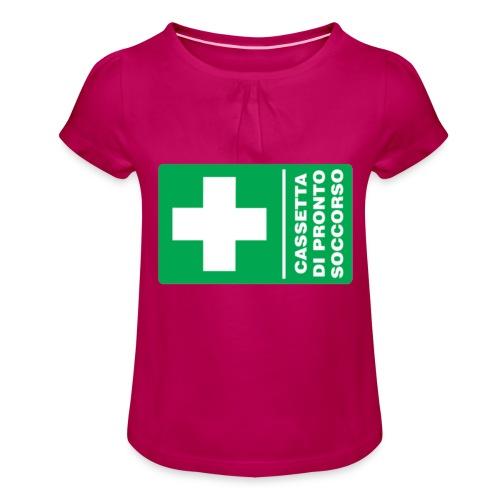 cartello png - Maglietta da ragazza con arricciatura