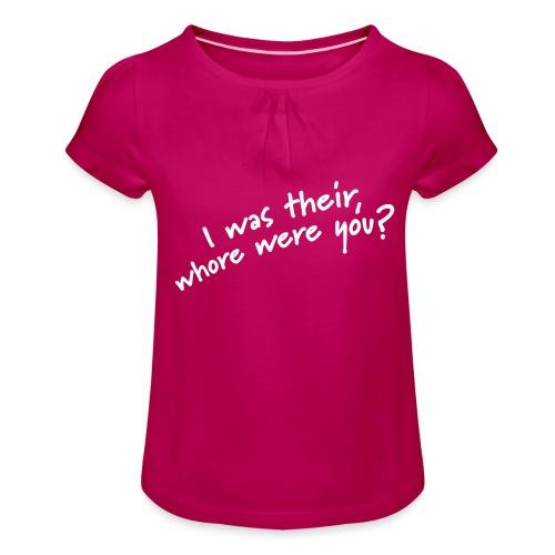 Dyslexic I was there - Meisjes-T-shirt met plooien