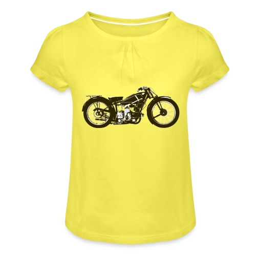 Classic Cafe Racer - Girl's T-Shirt with Ruffles