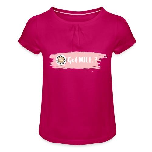 Got MILF Milfcafe Shirt Mama Muttertag - Mädchen-T-Shirt mit Raffungen