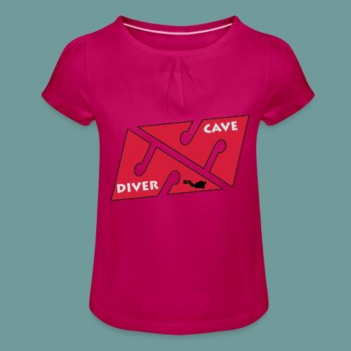 cave_diver_01 - T-shirt à fronces au col Fille