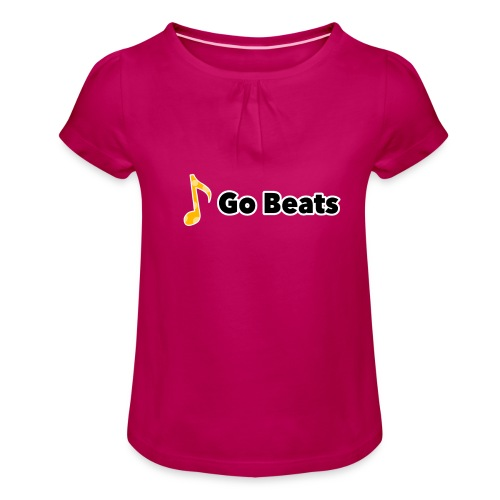 Logo with text - Girl's T-Shirt with Ruffles