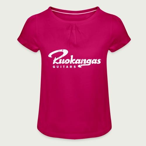 RuokangasGuitars white - Girl's T-Shirt with Ruffles