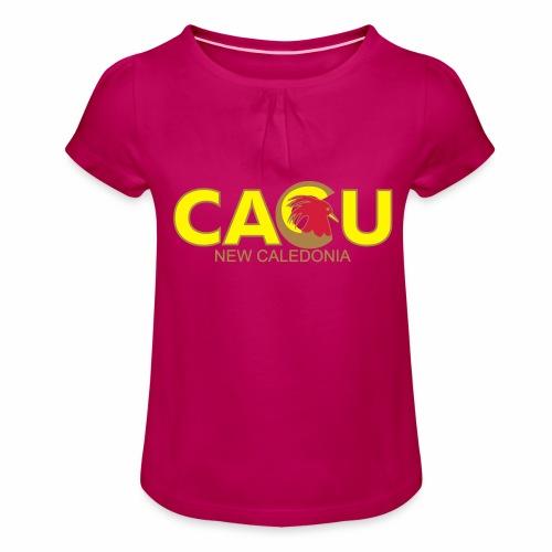 Cagu New Caldeonia - T-shirt à fronces au col Fille