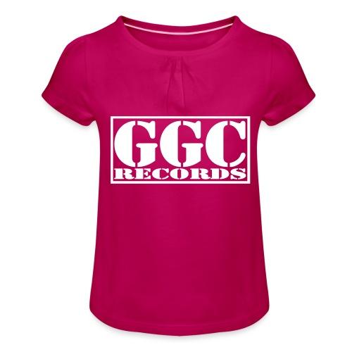 GGC-Records Label-Stempel - Mädchen-T-Shirt mit Raffungen