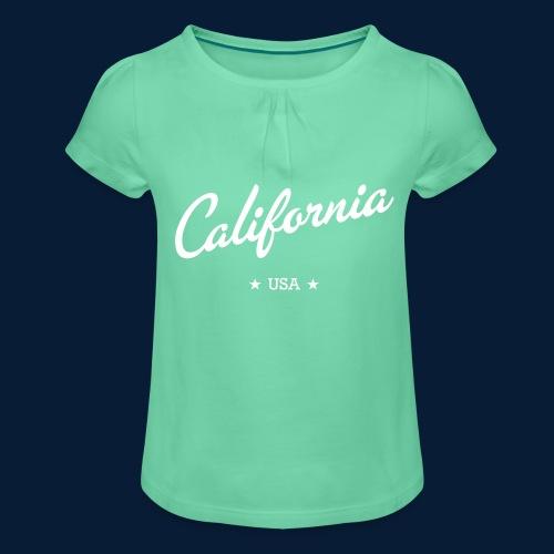 California - Mädchen-T-Shirt mit Raffungen