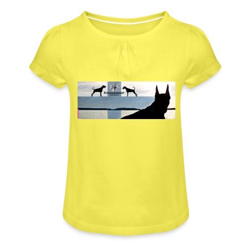 FBtausta - Tyttöjen t-paita, jossa rypytyksiä
