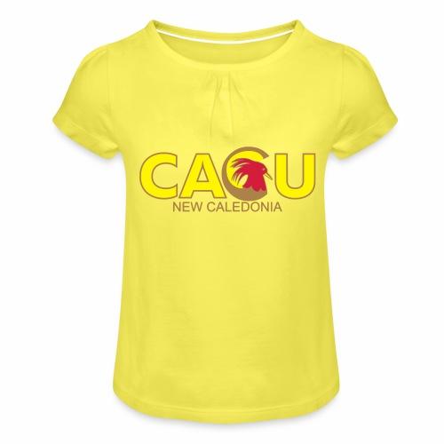 chem - T-shirt à fronces au col Fille