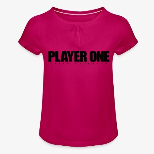 GET READY PLAYER ONE! - Pige T-shirt med flæser