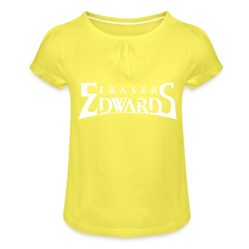Fraser Edwards Men's Slim Fit T shirt - Girl's T-Shirt with Ruffles