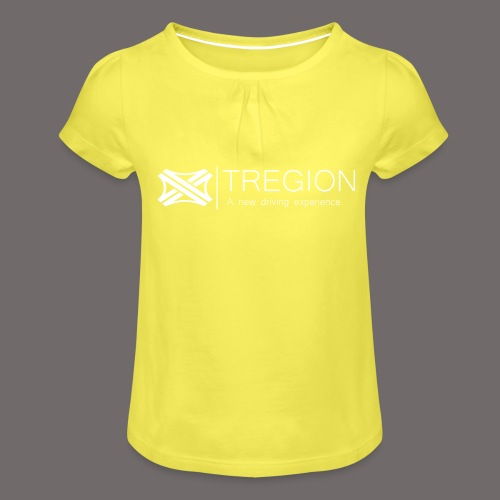Tregion Logo wide - Girl's T-Shirt with Ruffles