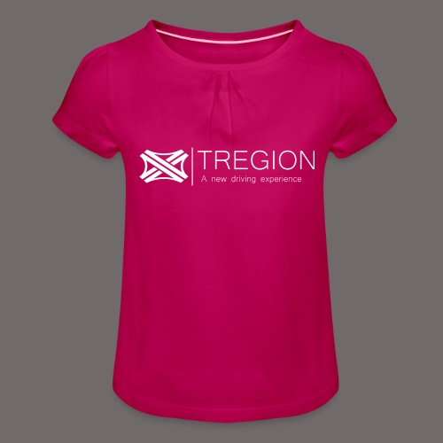Tregion Logo wide - Girl's T-Shirt with Ruffles