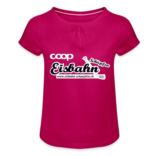Coop-Eisbahn Schüpfen invertiert - Mädchen-T-Shirt mit Raffungen