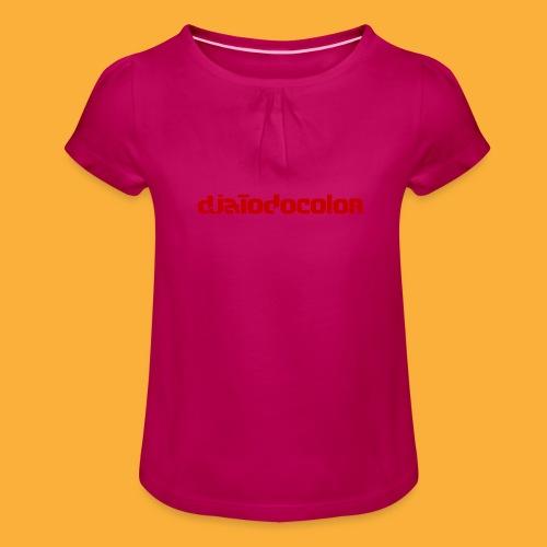 DJATODOCOLOR LOGO ROJO - Camiseta para niña con drapeado