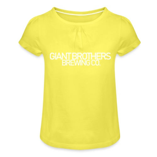 Giant Brothers Brewing co white - T-shirt med rynkning flicka
