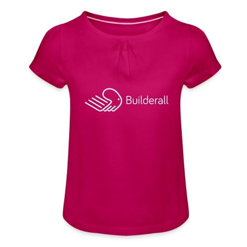 Builderall - Maglietta da ragazza con arricciatura