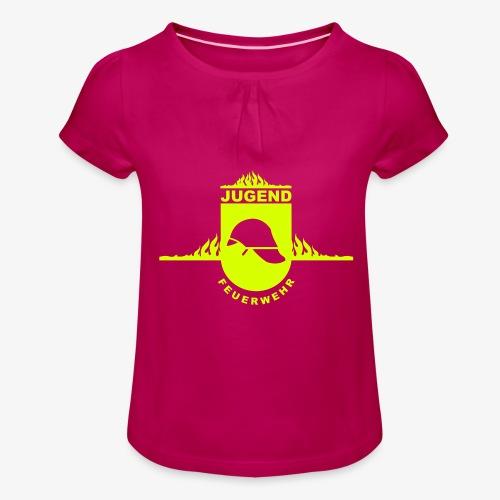 Jugend Feuerwehr - Mädchen-T-Shirt mit Raffungen