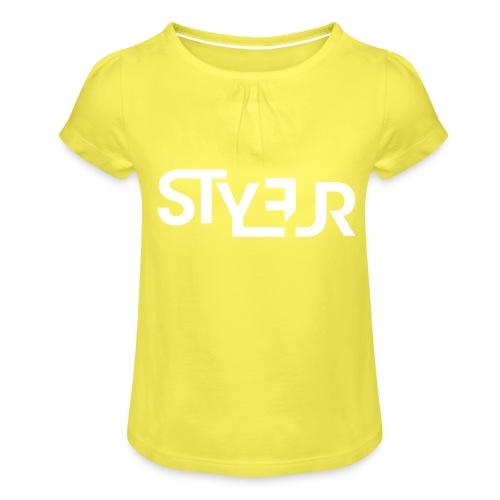 styleur logo spreadhsirt - Mädchen-T-Shirt mit Raffungen