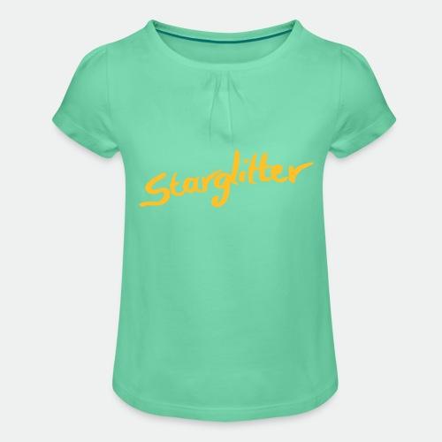 Starglitter - Lettering - Girl's T-Shirt with Ruffles