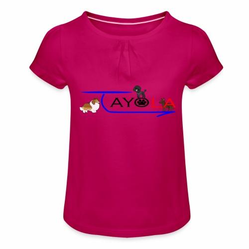 Tayola Black - T-shirt à fronces au col Fille