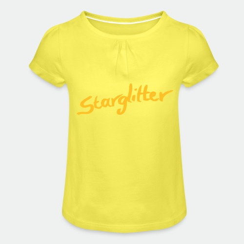 Starglitter - Lettering - Girl's T-Shirt with Ruffles