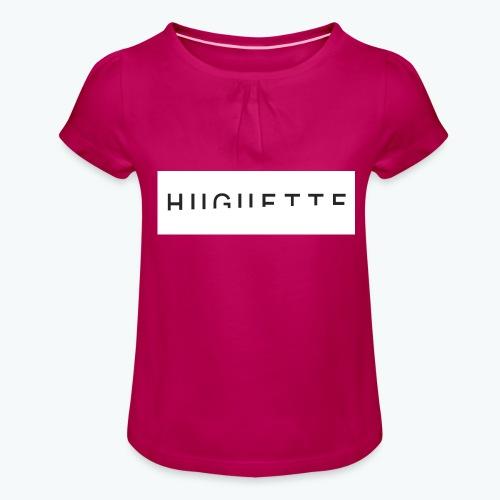 Huguette - T-shirt à fronces au col Fille