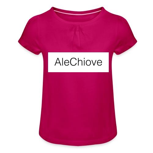 T-Shirt AleChiove - Maglietta da ragazza con arricciatura