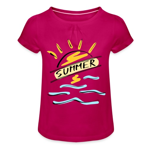 Summer - T-shirt à fronces au col Fille