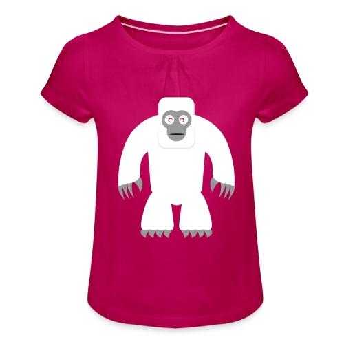 Yeti - Mädchen-T-Shirt mit Raffungen