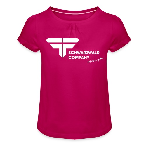 Schwarzwald Company S.C. Motorcycles - Mädchen-T-Shirt mit Raffungen