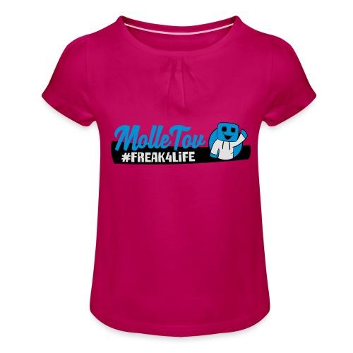 Nyt Logo4 - Pige T-shirt med flæser