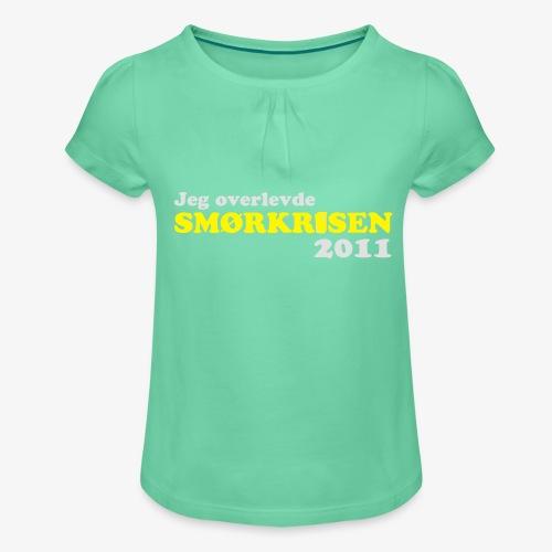 Smørkrise 2011 - Norsk - Jente-T-skjorte med frynser