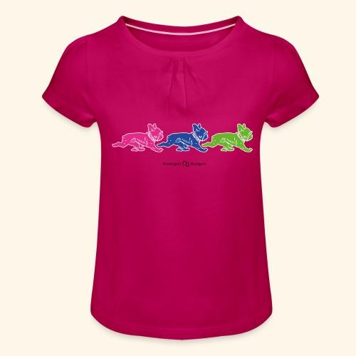 frenchies multicolor - T-shirt à fronces au col Fille