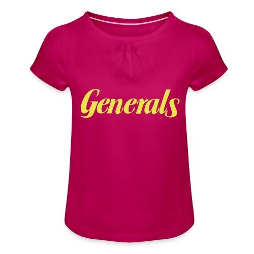 Generals - Mädchen-T-Shirt mit Raffungen