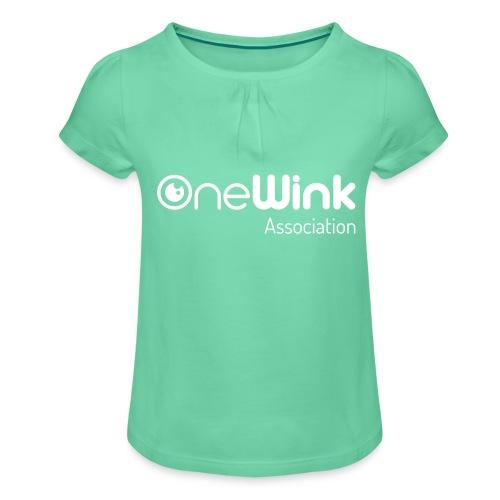 OneWink Association - T-shirt à fronces au col Fille