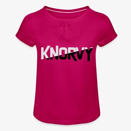 KNORVY - Meisjes-T-shirt met plooien