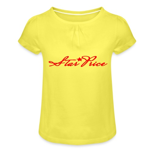 star price (red) - Girl's T-Shirt with Ruffles