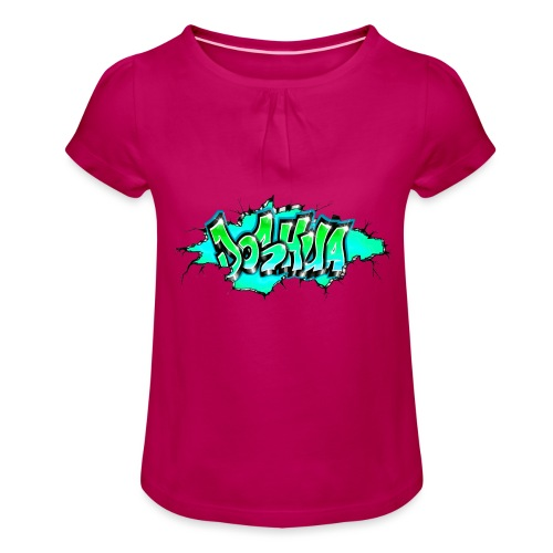 GRAFFITI JOSHUA PRINTABLE WALL BROKE - T-shirt à fronces au col Fille