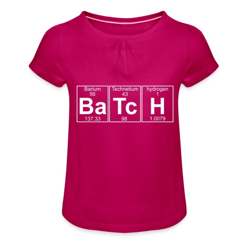 Ba-Tc-H (batch) - Full - Girl's T-Shirt with Ruffles