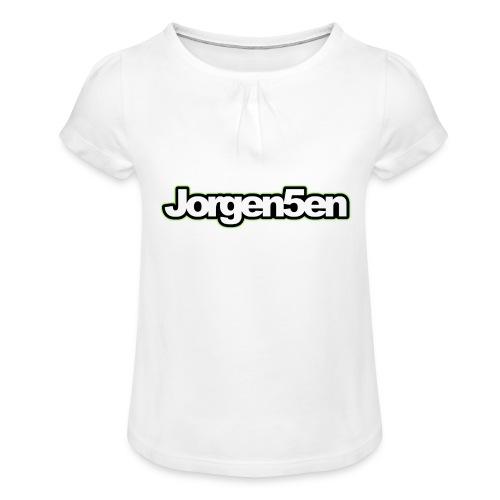 tshirt - Pige T-shirt med flæser