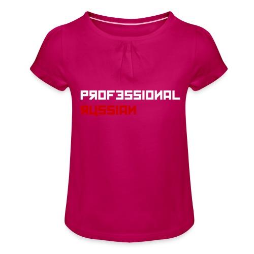 Professional Russian Blue - Meisjes-T-shirt met plooien