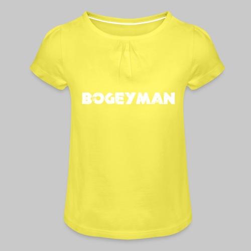 valkoinen - Tyttöjen t-paita, jossa rypytyksiä