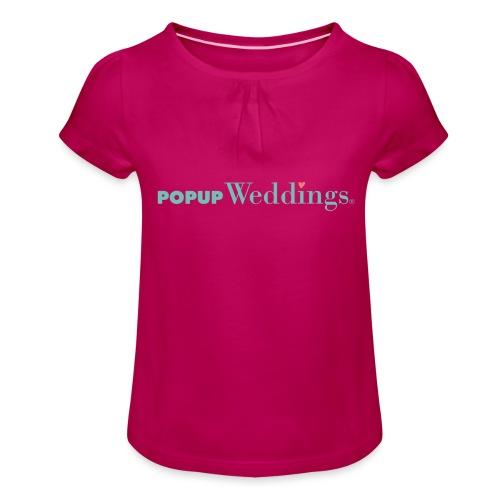 Popup Weddings - Girl's T-Shirt with Ruffles