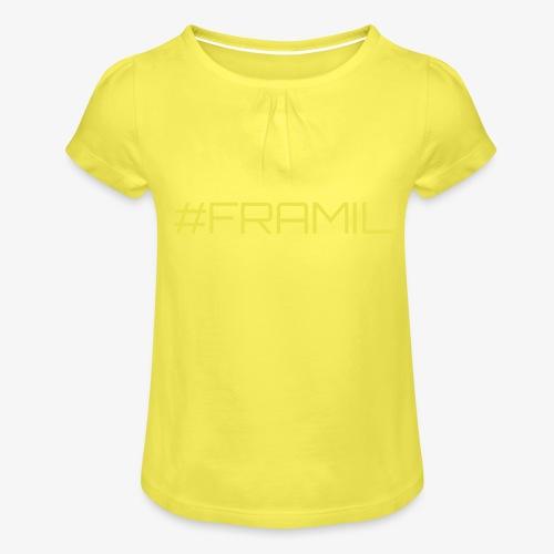 #framil - Tyttöjen t-paita, jossa rypytyksiä