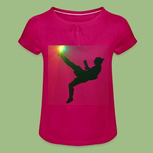 Ibra bicicleta - T-shirt med rynkning flicka