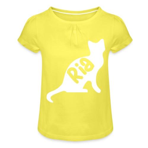 Team Ria Cat - Girl's T-Shirt with Ruffles