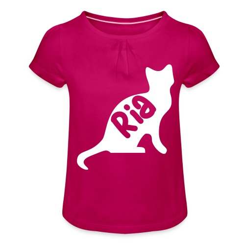 Team Ria Cat - Girl's T-Shirt with Ruffles