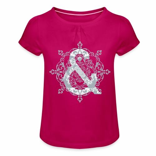 Escudo dark grey & ... - Camiseta para niña con drapeado